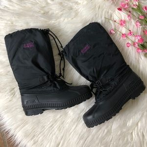 Sorel black snow winter boots unisex